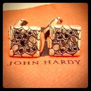 John Hardy Sapphire Silver Naga Cufflinks Rare